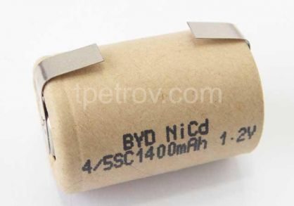 BYD BD-1400 4/5SC - 1.2V / 1400 mAh