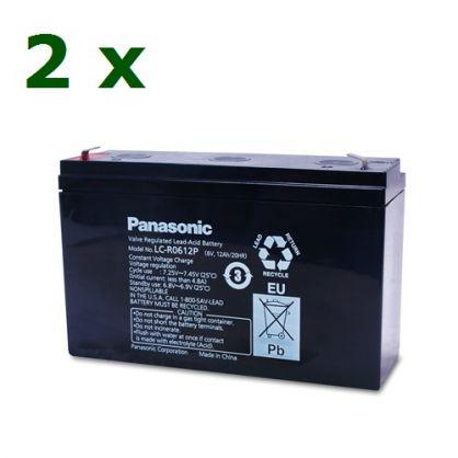 Комплект 1 (2 x Panasonic-LC-R0612P1-6V/12Ah )