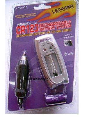 LENMAR KIT-CR123 - Зарядно у-во за Li-Yon батерия CR-123A