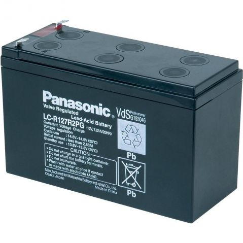 Panasonic LC-V127R2PG1 12V 7.2Ah   F2