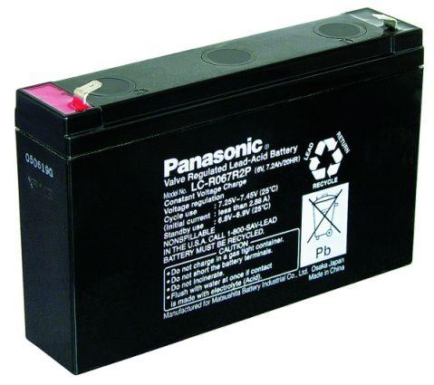 Panasonic LC-R067R2P 6V 7.2Ah